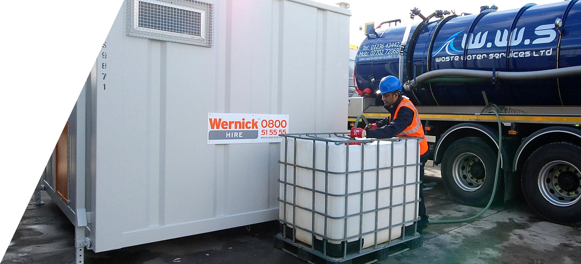 waste water services water bowser hire