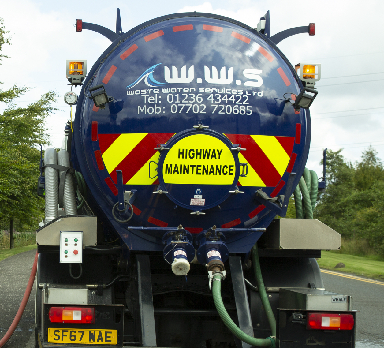 waste water services lorry